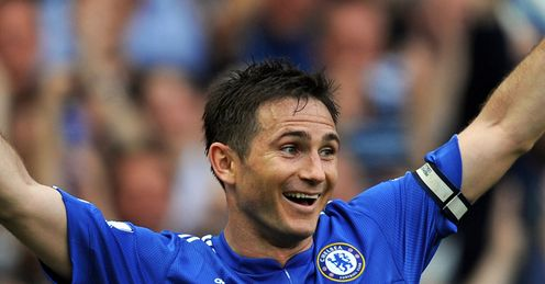 Lampard: made the 20-goal mark and a Premier League first