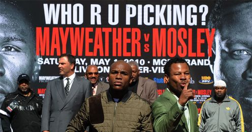 Who R U Picking? Glenn is going for Mosley and the end of the line for Mayweather