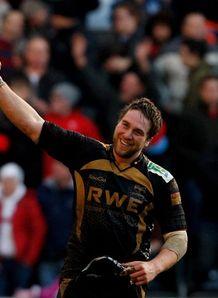 Ryan Jones celebrates