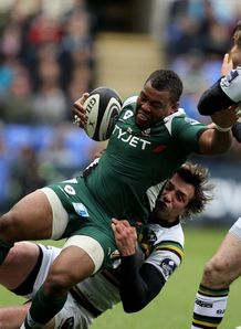 Steffon Armitage brought down against Northampton