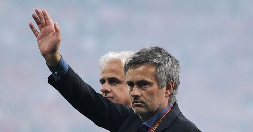 Champions League final Jose Mourinho wave