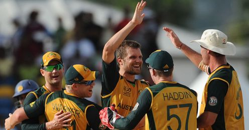 Lucky for some: Nannes was leading wicket-taker after the Super Eights with 13 victims