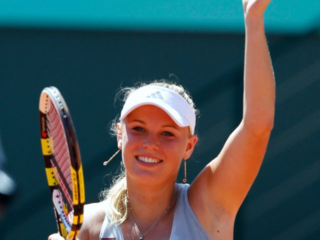 Wozniacki - popular with fans.