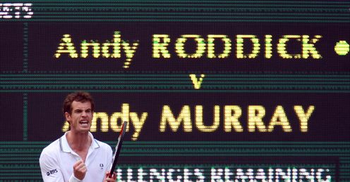 Name in lights: but can Andy Murray etch his name on the Wimbledon winner's board?