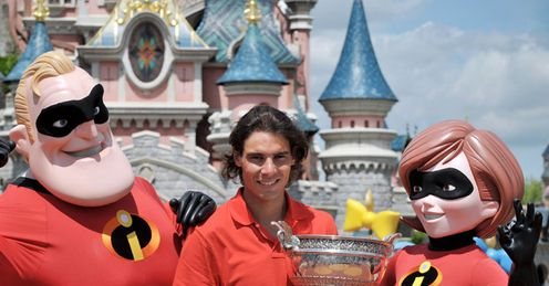 Back in safe hands: Nadal has now won five times in six years at Roland Garros