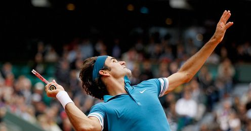 First-class service: Federer will have to be on top of his game to beat Soderling