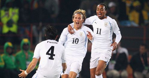 Forlan hope: Diego Forlan exposed Bafana's limitations