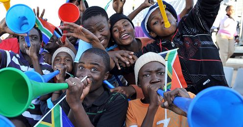 The World Cup in South Africa made the air horn ''vuvuzela'' a household name throughout the world as the noise reverberated throughout the tournament.