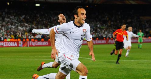 Last-gasp: Donovan's late strike sent USA through