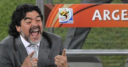 Maradona: has the respect of his players