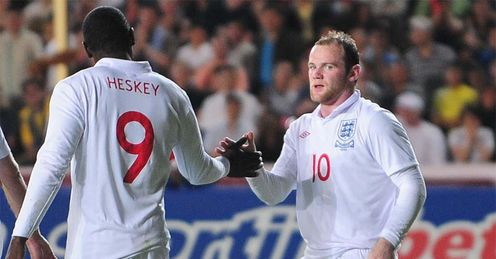 Rooney and Heskey: should spearhead a 4-4-2, says Jamie