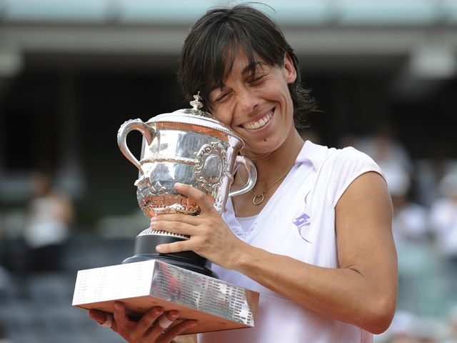 Schiavone - French Open champion.