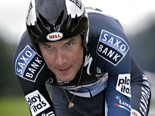 Frnk Schleck was a picture of focus on the final time trial stage