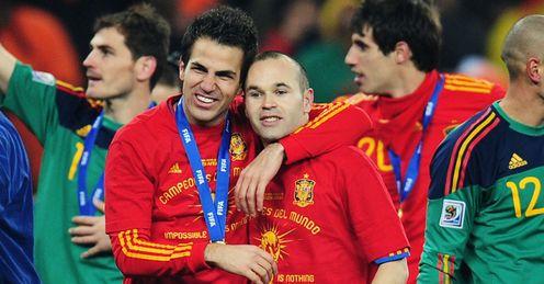 Cesc Fabregas Andres Iniesta Spain