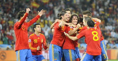 Spain: will be celebrating again on Sunday, says Jamie