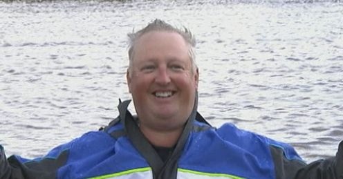 Neil McKinnon: celebrates Fisho 'O' Mania win in style