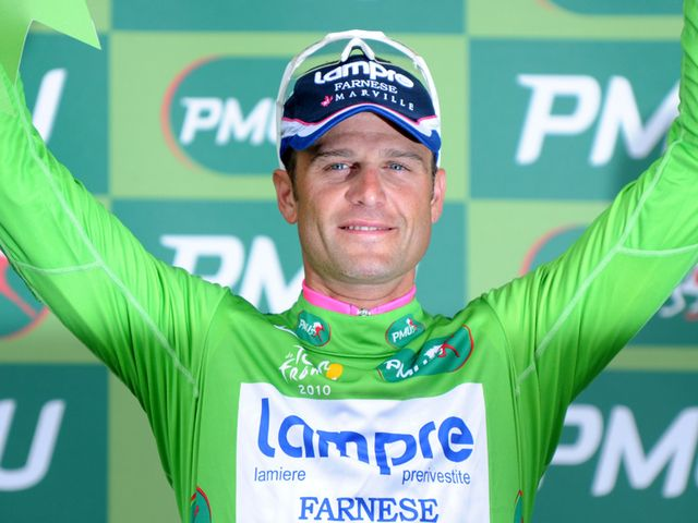 Alessandro Petacchi won the green jersey in 2010