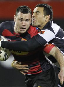 Ryan Crotty and Kahn Fotualii hawkes bay v canterbury
