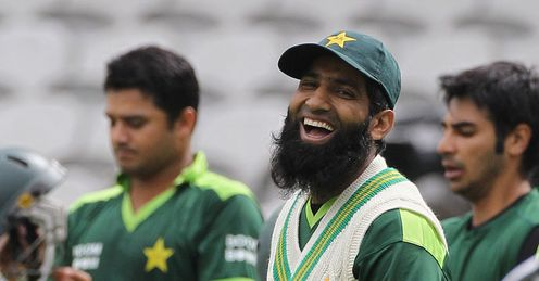 Fine fettle: Yousuf in relaxed mood as Pakistan prepare at a shower-threatened Oval