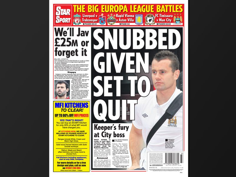 Today's back pages