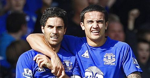 Mikel Arteta Tim Cahill Everton Premier League