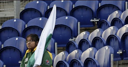 Pakistan fan: not much to smile about at the SWALEC Stadium
