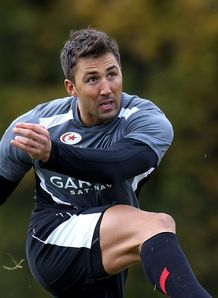 Gavin Henson Saracens training kick