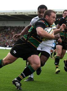 Paul Diggin score in corner against Exeter