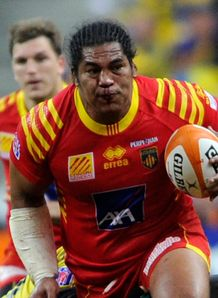 Perpignan number eight Henry Tuilagi v Clermont
