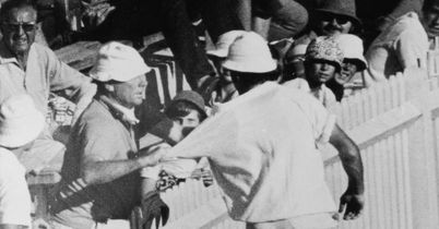 Gripping stuff: a member of the crowd grabs England's Jon Snow at a fractious SCG in 1971