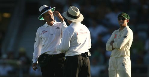 Not rocket science: umpires Billy Bowden and Ian Gould could have done with some help in Mohali