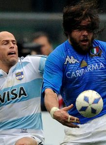Felipe Contepomi Martin Castrogiovanni Italy v Argentina 2010
