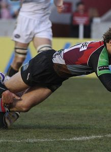 nick evans harlequins try 2010
