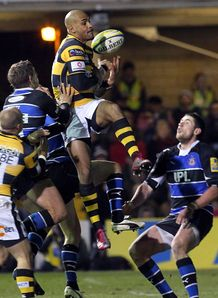Tom Varndell Wasps v Bath Aviva Premiership Recreation Ground Nov 2010