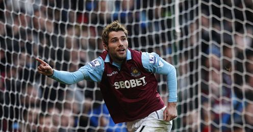 valon behrami west ham v wigan