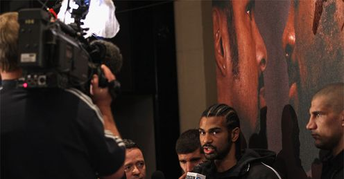 Haye: has been happy to talk to the media all week
