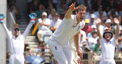 Plenty to shout about: Tremlett picked up three wickets on his return to England's Test side