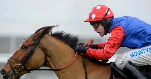 Timmy Murphy rides Ghizao to victory in The Andover Novices' Steeple Chase at Newbury