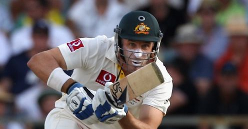 Ton-form: Hussey's second century of the series was the highlight of Australia's second dig