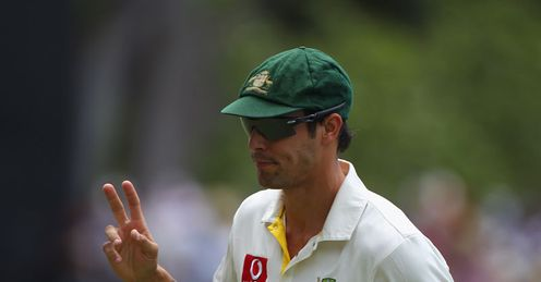 Peace of the action: Johnson was dropped for second Test after returning 0-170 in Brisbane