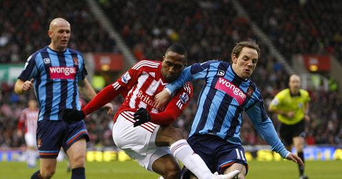 Stoke v Blackpool Ricardo Fuller David Vaughan