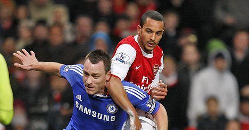 John Terry & Theo Walcott Arsenal v Chelsea Premier League