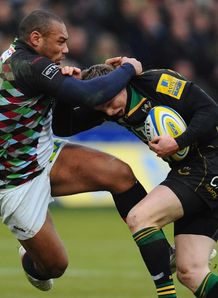 Chris Ashton Jordan Turner Hall Northampton v Harlequins