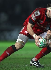 Josh Turnbull of Scarlets during the Heineken Cup