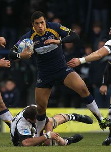 Luther Burrell in action against Bucharest