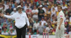 Billy Bowden signals the no-ball to break Beer's heart