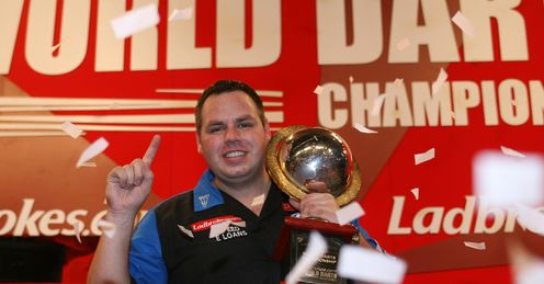 Adrian Lewis World Championship trophy