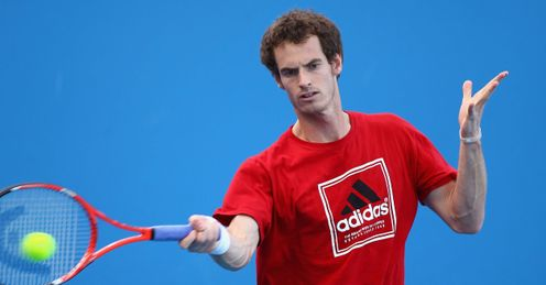Andy Murray Australian Open final practice