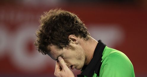 Andy Murray dejected