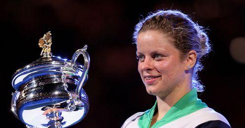 Kim Clijsters Australian Open trophy